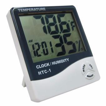 HTC-1 Digital LCD Temperature Humidity Meter Clock HygrometerThermometer Internal Sensor