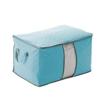 HuoLaLa Clothes Blanket Quilt Closet Sweater Organizer Storage Bag Foldable Blue & 2 (Intl)