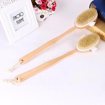 HYX HOT SALE!!!Back Scrubber Long Wooden Handle Bristle Shower Bath Body Brush Dry Skin Brush - intl - 4