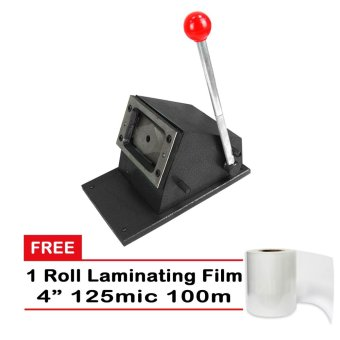 ID Card Photo Die Cutter Metal Base Free Laminating Film Roll 4in125mic