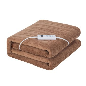 iGuerburn Electric Heated Over Blanket - 150W - 160*130cm - 200gsm Coral Fleece - Washable Chocolate Soft Fleece Throw - 1 to 9 Hour Timer - 10 Temperature Settings - intl