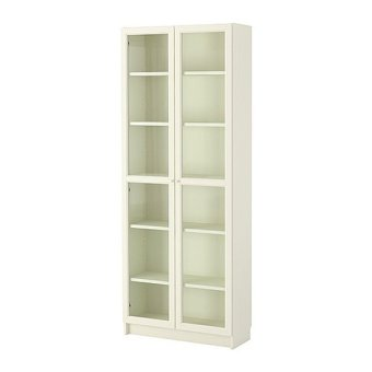 Ikea Billy Glass Cabinet (White)