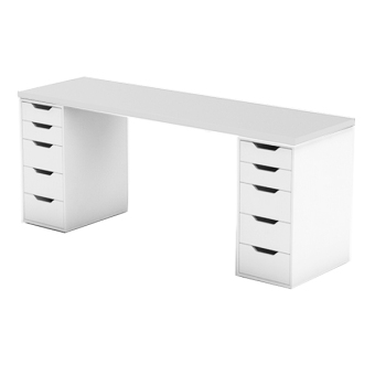 Ikea Linnmon Alex Double (White)