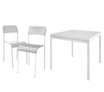 Ikea Melltorp/Adde Table And 2 Chairs (White)