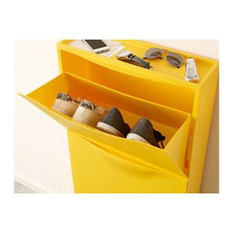 Ikea Stackable Shoe Cabinet Set of 3 (Yellow) - 3