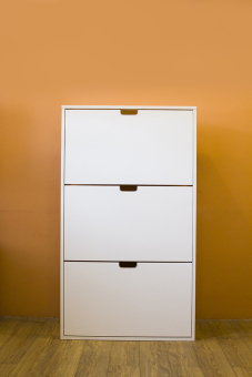 Ikea Stall 30 Pairs Shoe Cabinet (White)
