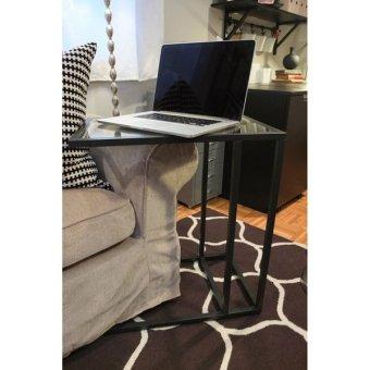 Ikea Vittsjo L Shaped Side Table (Black)   2 ...