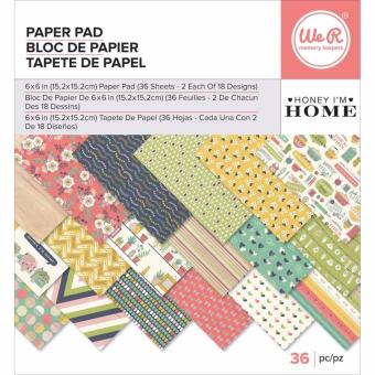 Harga We R Memory Keepers 6x6 Paper Pad - Honey I'm Home