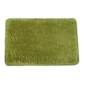 Harga Fluffy Rugs Anti-Skid Shaggy Area Rug Dining Carpet Floor Mat Grass Green - Intl