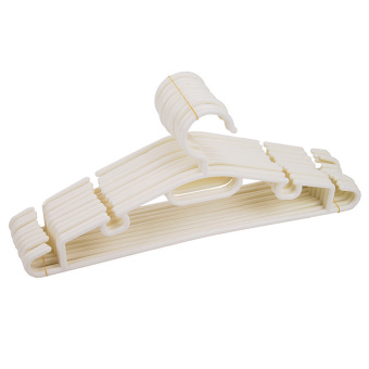 Harga Wet And Dry Hangers Set of 10 (White)