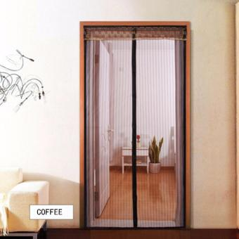 Harga Mimosifolia Home Living Anti-mosquito Gauze Door Curtain(Coffee, 120CM X 210CM) - intl