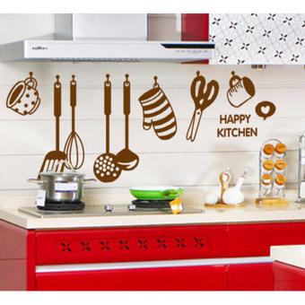 Happy Kitchen with nice hanging kitchen set Wall Decal Price Philippines