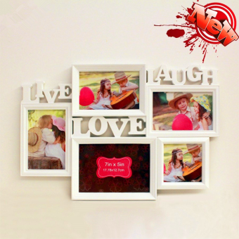 Harga 5 Pictures Collage Photo Frame Wall Love Hanging Home Decoration