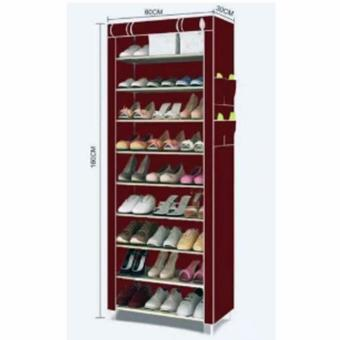 SHXT-609 Shoe Cabinet Shoe Rack (Maroon) Price Philippines