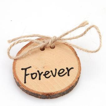 "LALANG 1pc ""Forever"" Rustic Ring Pillow Round Wood Slice Ring Holder Wedding Decor Price Philippines"