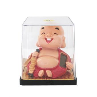 Harga Feng Shui Solar Powered Laughing Baby Buddha with Coins