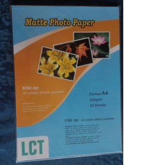 Harga LCT Matte Photo Paper 200gsm A4 20Sheets
