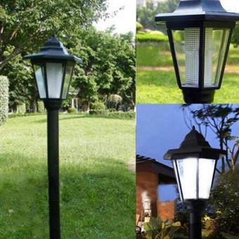 Harga Outdoor Solar Power Rechargeable LED Home Decor Pathway Light Wall Landscape Mount Garden Fence Lamp - intl