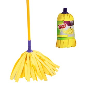 Harga Scotch-Brite Super Drying Mop Set (Yellow) with Refill