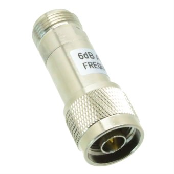 Harga Fliegend 1pc Attenuator 2W 2 Watts DC-3 Ghz 6dB N RF coaxial Power plug M to jack F 50Ω- Intl