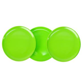 Harga Lime Green Melaware Round Plate Set of 3 28#907 709033