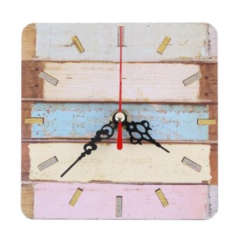 Vintage Wooden Wall Clock Large Shabby Chic Rustic Kitchen - intl Price Philippines