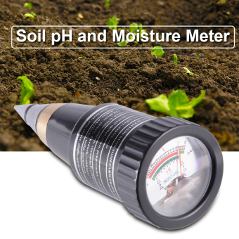 Harga Soil pH and Moisture Meter Tester 3~8 pH Waterproof Metal Electrode Garden HS791 - intl