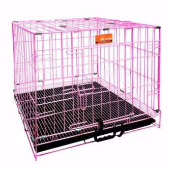 Pet Crates EL-3B Foldable Dog Cage w/ Plastic tray (Pink) Price Philippines