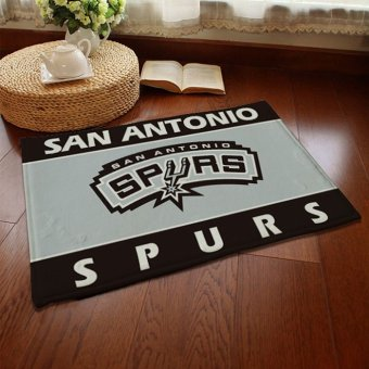 JinGle Absorbent Soft Coral Velvet Non-slip Bathroom Floor Mat Rug NBA San Antonio Spurs (Multicolor) Price Philippines