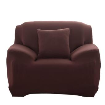 Fashion Slipcover Stretchable Pure Color Sofa Cushion Cover (Chair Coffee) - intl Price Philippines