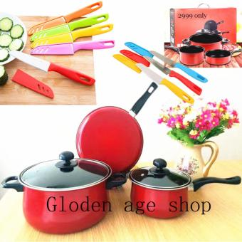 BIG SIZE 13 IN 1 As seen on TV Big promotion stainless steel pan and knife set Price Philippines