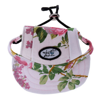 Harga BolehDeals Small Pet Dog Cat Kitten Flower Foral Baseball Hat Strap Cap Sunbonnet M - intl