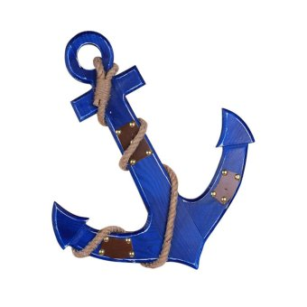 Vintage Chic Wall Door Hanging Wooden Nautical Boat Anchor Plaque Decor Blue Price Philippines