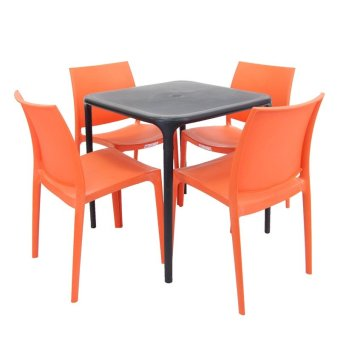 Cofta Jasmine Table Set 4 (Orange/Black) Price Philippines