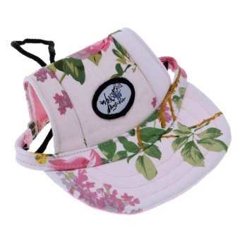 Harga BolehDeals Small Pet Dog Cat Kitten Flower Foral Baseball Hat Strap Cap Sunbonnet S