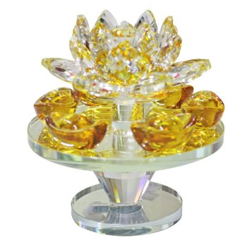 Harga Feng Shui Rotating Lotus Plate with Gold Bar (Small)