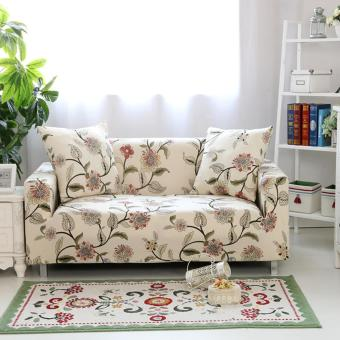 Harga Mimosifolia Combination Sofa 3-4 Seater Couch Many People Settee Protect Cover Stretch Slipcover Slip Resistant Soft Fabric Length 195 cm to 230 cm - intl