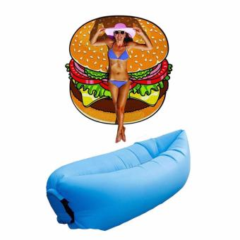 Harga Beach Towel (Burger) with Free Air Sofa Bed (Blue)
