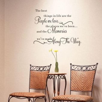 Harga The Best Thing In Life are The People We Love Sweet Quote Wall Decal 50cm*65cm