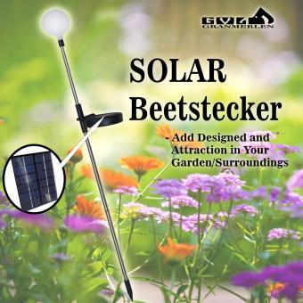 Harga Best Garden Light's Solar Powered Round Beetstecker Light