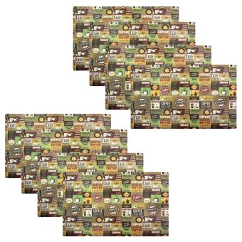 Kitchen Hub Printed Fashion Placemat Set of 8 (Coffee) Price Philippines