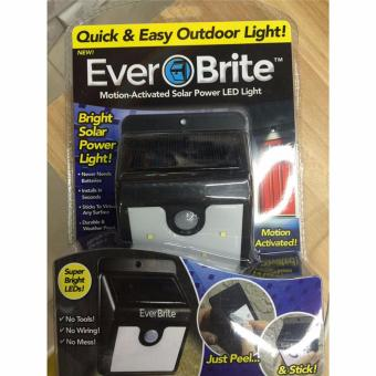 Harga Hanyu Ever Brite Motion- Activated Outdoor 4pcs LED Solar Outdoor Stick Up Light - intl