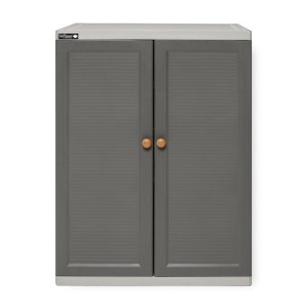 Harga Self Space Click-Lock Shoe Cabinet (Grey)
