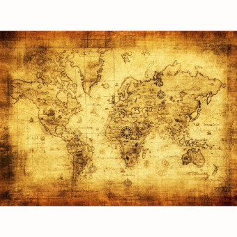 Vintage Style Retro Cloth Poster Globe Old World Nautical Map Gifts (Yellow) Price Philippines