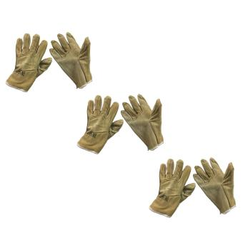 "Meisons leather welding gloves 9.5"" light brown (3 pairs) Price Philippines"