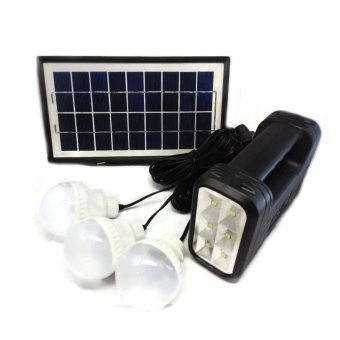 Harga GDLITE GD-8017A Solar Lighting System (Black)
