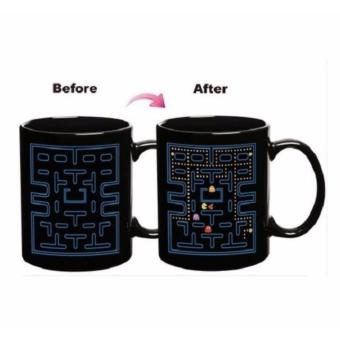 Harga Pac-Man Magic Mug Heat Sensitive Changing Color Changing Design Mug