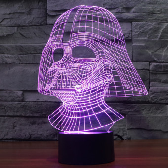Harga Creative 3D illusion Lamp LED Night Light Dark Knight Acrylic Colorful Gradient Atmosphere Lamp Novelty Lighting