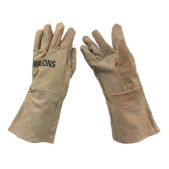 "Meisons leather welding gloves 13.5"" light brown pure leather Price Philippines"