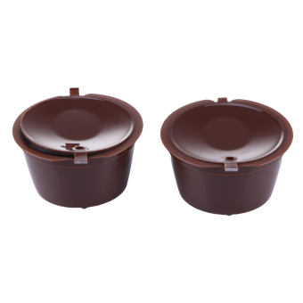 2pcs/pack Dolce Gusto Refillable coffee Capsule filter reuse cofee tool Box - intl Price Philippines
